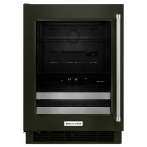 """KitchenAid24"""" Stainless Steel Beverage Center with SatinGlide® Metal-Front Racks - Black Stainless Steel with PrintShield™ Finish"""
