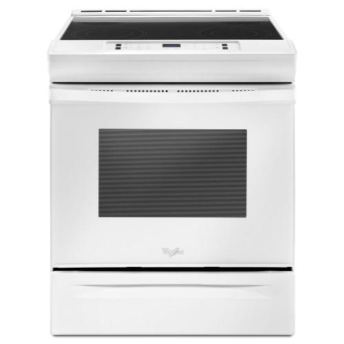 Whirlpool - 4.8 cu. ft. Guided Electric Front Control Range With The Easy-Wipe Ceramic Glass Cooktop