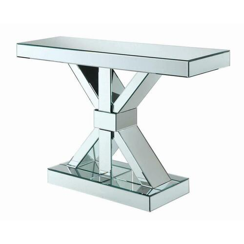 Gallery - Contemporary Mirrored Console Table