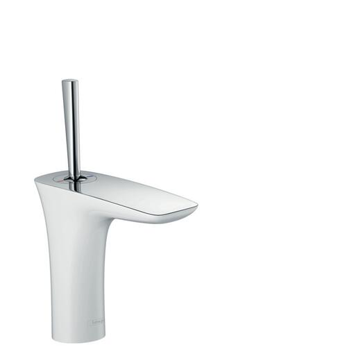 White/chrome Single-Hole Faucet 110, 1.2 GPM