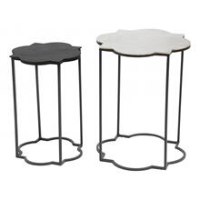 See Details - Set Of 2 Brighton Accent Tables Black & White