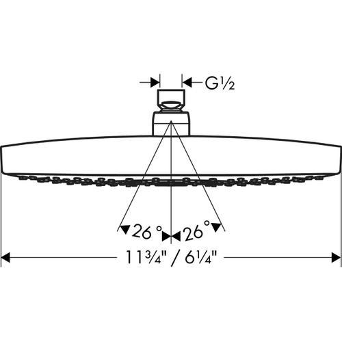 Chrome Showerhead 300 2-Jet, 2.0 GPM