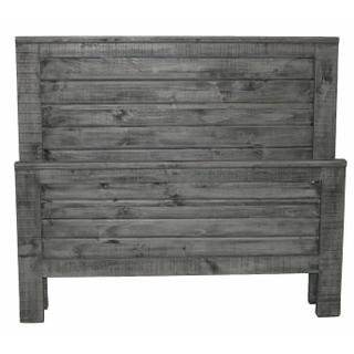 See Details - Charcoal Gray Straight Queen Ranch Bed