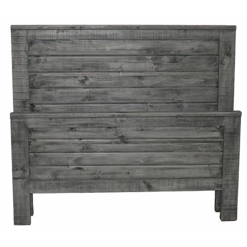 Million Dollar Rustic - Charcoal Gray Straight Queen Ranch Bed