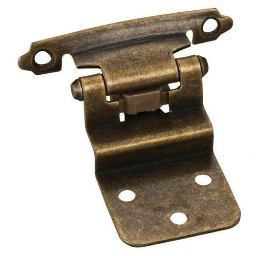 """Hardware Resources - Traditional 3/8"""" Inset Hinge with Semi-Concealed Frame Wing - Antique Brass"""