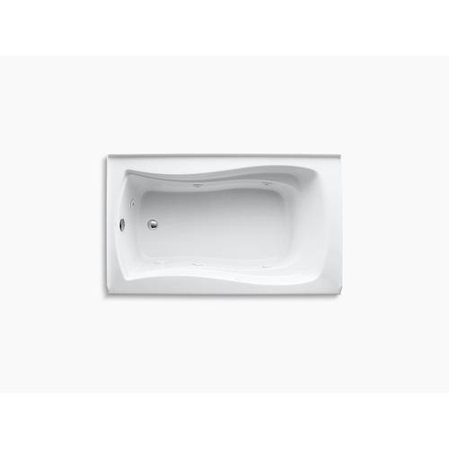 "Biscuit 60"" X 36"" Alcove Whirlpool With Integral Flange, Left-hand Drain and Heater"