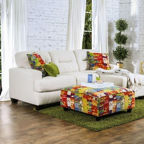 Furniture of America - Pollock Sectional, White