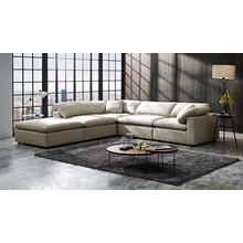 Divani Casa Kramer - Modern Modular Cream Fabric Sectional Sofa
