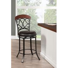 Trevelian Swivel Counter Height Stool, Dark Coffee