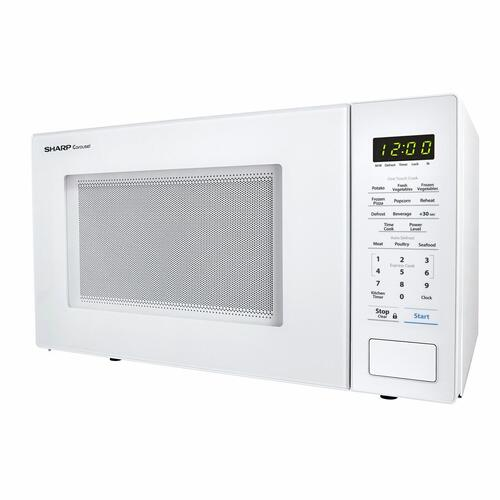 Sharp - 1.1 cu. ft. 1000W Sharp Countertop White Microwave