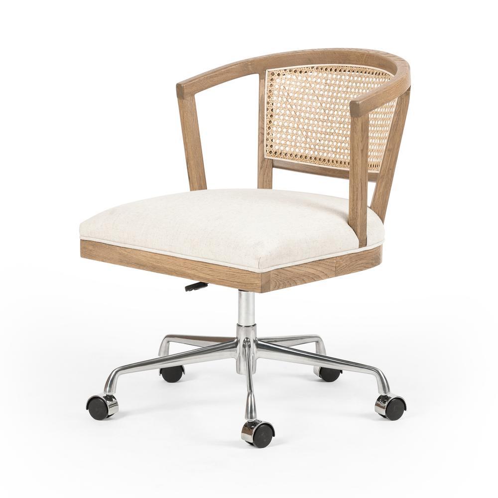 Light Honey Oak Finish Alexa Desk Chair
