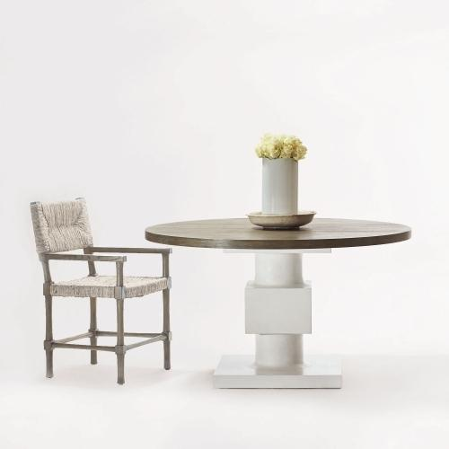 Gallery - Newberry Round Dining Table in Rustic Gray