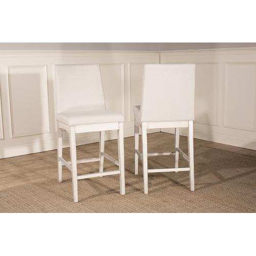 Clarion Parson Non-swivel Counter Height Stool - Sea White