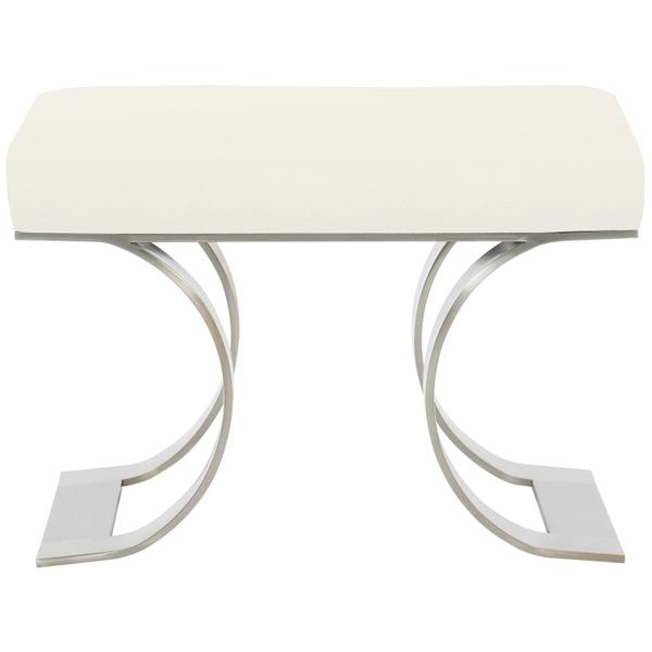Axiom Bench in Brushed Silver