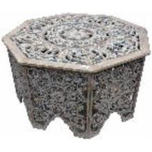 "WD CARVED COFFEE TABLE 33""W, 18""H"