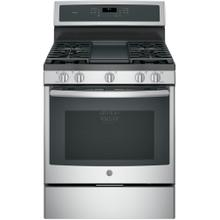 """See Details - GE Profile™ 30"""" Free-Standing Gas Convection Range"""