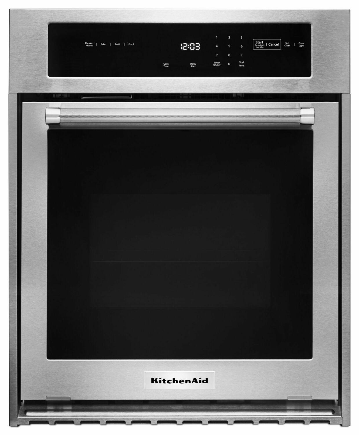 """KitchenAid24"""" Single Wall Oven With True Convection - Stainless Steel"""