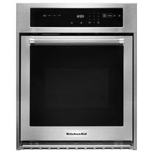 """See Details - 24"""" Single Wall Oven with True Convection - Stainless Steel"""