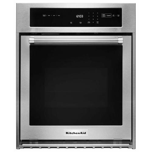 """KitchenAid - 24"""" Single Wall Oven with True Convection - Stainless Steel"""