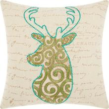 "Home for the Holiday Sx633 Green 18"" X 18"" Throw Pillow"