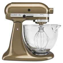 Artisan® Design Series 5 Quart Tilt-Head Stand Mixer with Glass Bowl Toffee