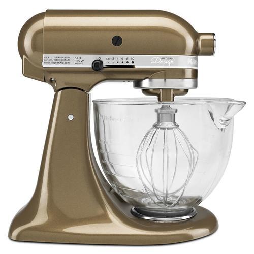 Gallery - Artisan® Design Series 5 Quart Tilt-Head Stand Mixer with Glass Bowl Toffee