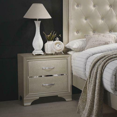 Beaumont Transitional Champagne Nightstand