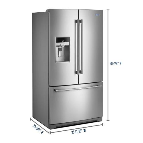 Gallery - 36-Inch Wide French Door Refrigerator - 27 Cu. Ft.
