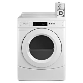 "27"" Commercial Electric Front-Load Dryer Featuring Factory-Installed Coin Drop with Coin Box White"