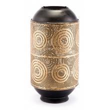 Large Espiral Candle Holder Antique Gold