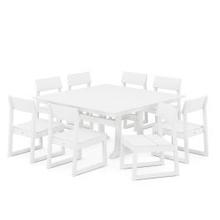 View Product - EDGE 9-Piece Farmhouse Trestle Dining Set in White