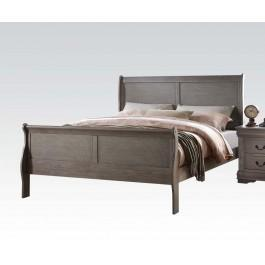 Acme Furniture Inc - Louis Philippe Gray Ck Bed
