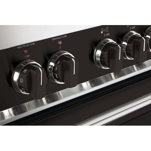 Color Knob Set for Designer Single Oven Electric Range - Black
