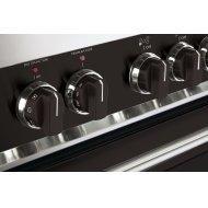 Color Knob Set for Designer Single Oven Electric Range - Black
