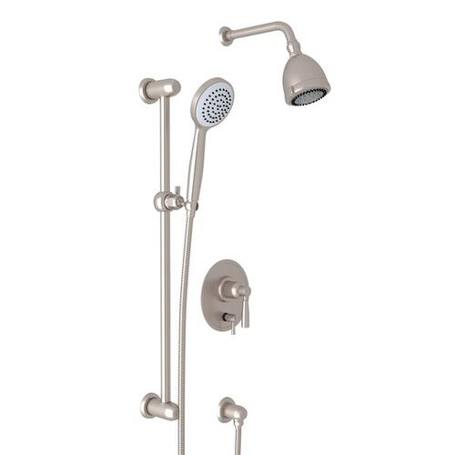 Satin Nickel Holborn Pressure Balance Shower Package with Holborn Metal Lever