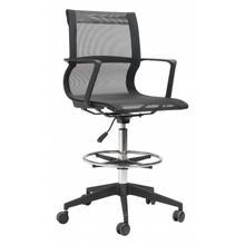 See Details - Stacy Drafter Office Chair Black Mesh