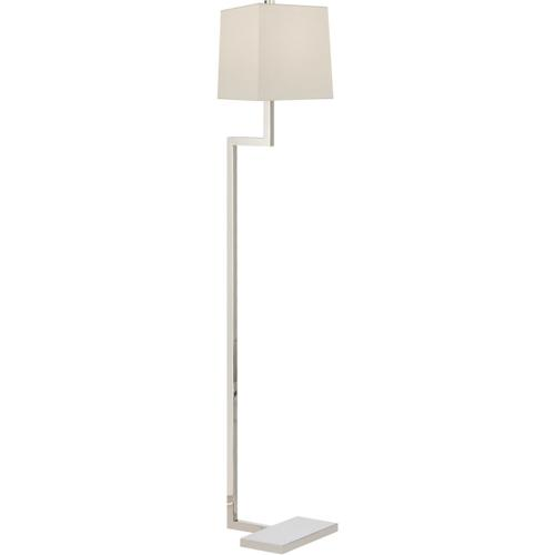 AERIN Alander 49 inch 75 watt Polished Nickel Floor Lamp Portable Light