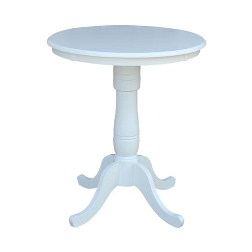 Product Image - 30'' Pedestal Table in Pure White