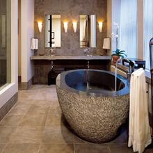 See Details - Oval Bathtub 60 Inch / Blue Gray Granite