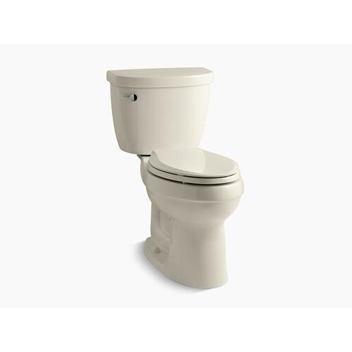 Almond Two-piece Elongated 1.6 Gpf Chair Height Toilet