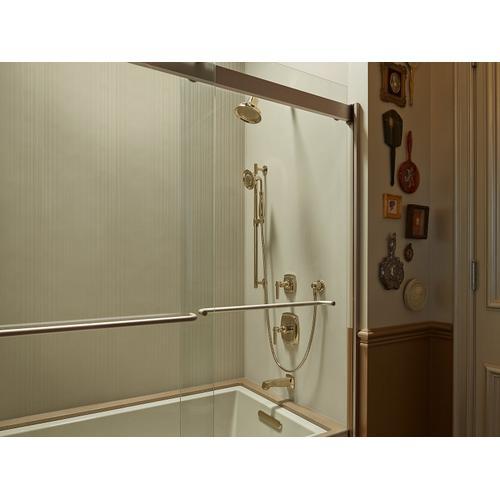 Vibrant Polished Brass Adjustable Wall-mount Holder