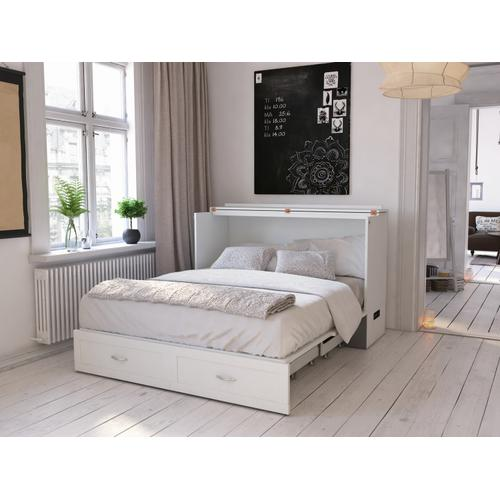Gallery - Hamilton Murphy Bed Chest Queen White with Charging Station