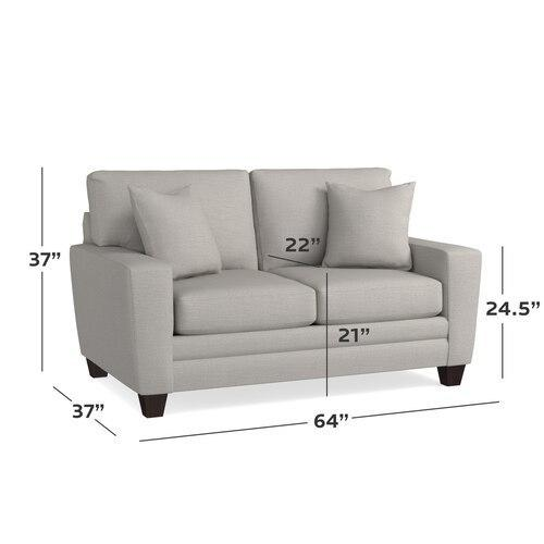 CU.2 Loveseat, Arm Style Wedge
