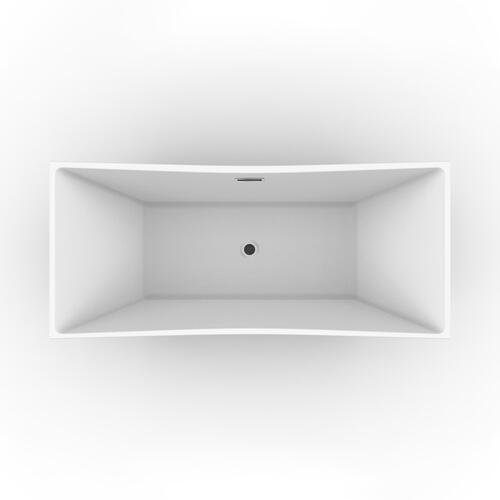 "Tairo 67"" Acrylic Tub with Integral Drain and Overflow - Brushed Nickel Drain and Overflow"