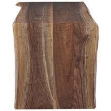 See Details - Crotch Walnut Waterfall Desk with Acrylic Square Base