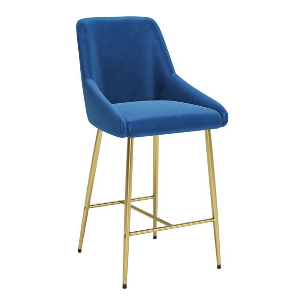 See Details - Madelaine Counter Chair Navy