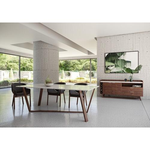VIG Furniture - Modrest Jozy - Modern Marble & Walnut Buffet