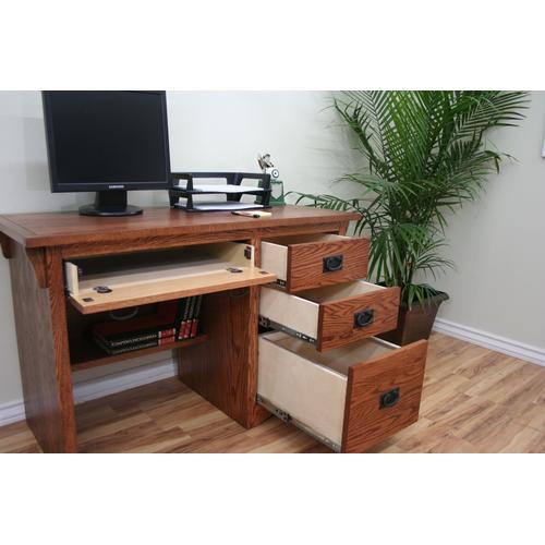 """O-M600 Mission Oak 45"""" 3-Drawer Junior Computer Desk"""