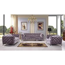See Details - Divani Casa Delilah Modern Grey Fabric Sofa Set