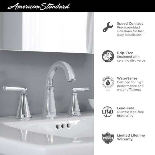 American Standard - Edgemere 8-inch Widespread Bathroom Faucet  American Standard - Polished Chrome